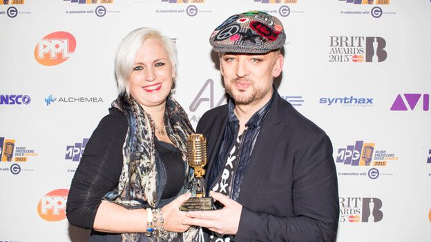 Mandy Parnell and Boy George