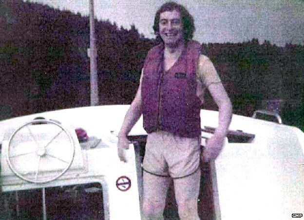 Fred Talbot on canal boat