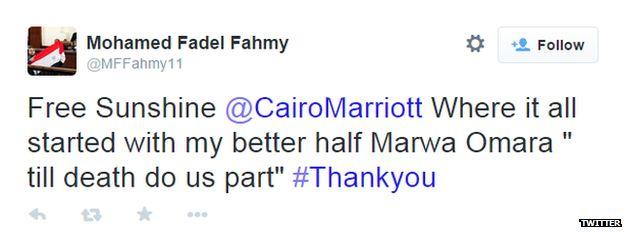 Tweet from Mohamed Fahmy