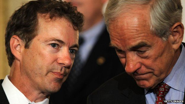 Senator Rand Paul and his father, Ron Paul