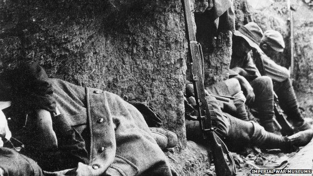 New Zealand soldiers resting