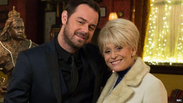 Mick Carter and Peggy Mitchell in EastEnders
