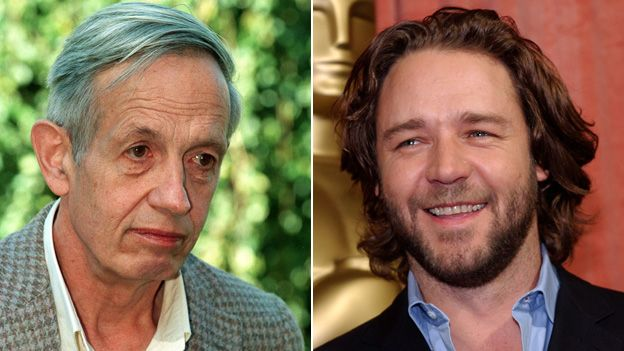 John Nash and Russell Crowe
