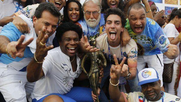 Beija-Flor directors and singer Neguinho da Beija-Flor