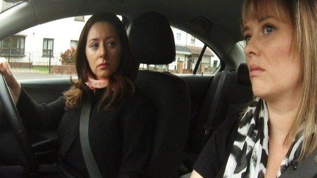 Jennifer O'Leary with Mairia Cahill