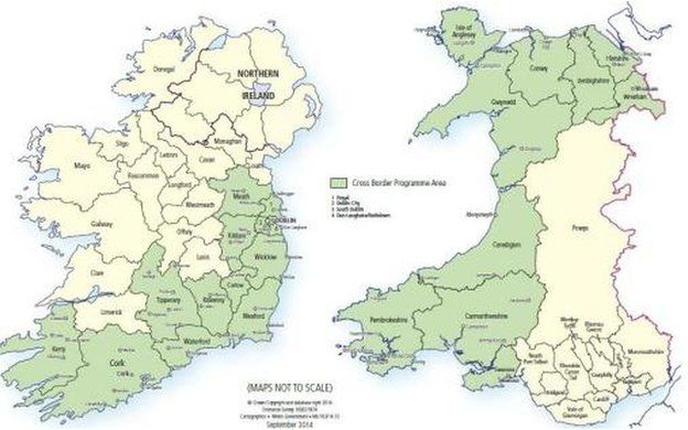 Map Of North And South Ireland.Wales Ireland Links Win 80m European Commission Boost Bbc News