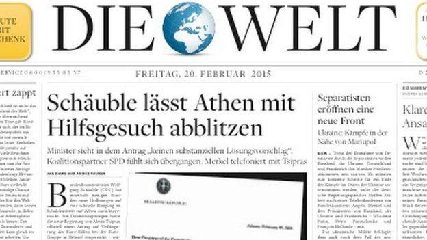 paper in german