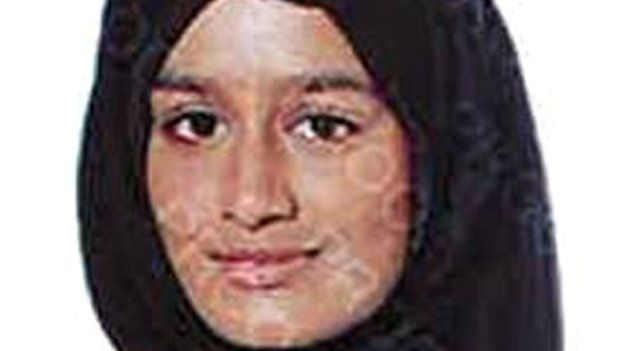 Shamima Begum, 15, who is believed to be travelling to Syria