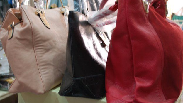 Bags for sale at Alhayat Global Synergy in Kano, Nigeria - February 2015