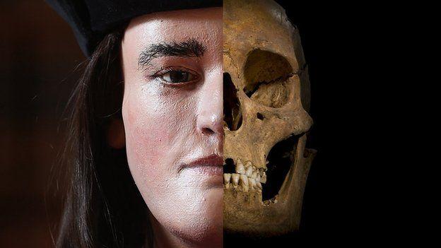 Richard III face and skull