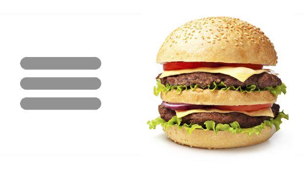 Hamburger icon and hamburger