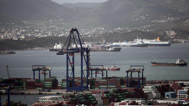 Greece's main port at Piraeus