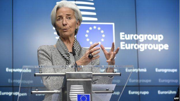 IMF head Christine Lagarde (20 Feb)