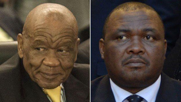 Lesotho election rivals Thomas Thabane (L) and Mothetjoa Metsing