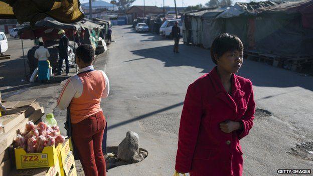 A market in Maseru, Lesotho
