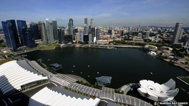 view of Singapore bay