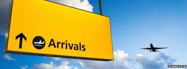 Heathrow arrivals sign