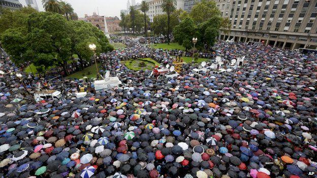 18 Feb 2015 march demanding justice for Nisman