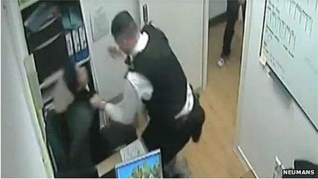 PC Kiddie grabs Sarah Reed