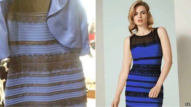 Dress changes color trick pictures