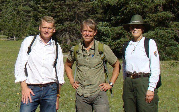 Tom Heap (L), Tom Sisk (C) and Martha Hahn (R)