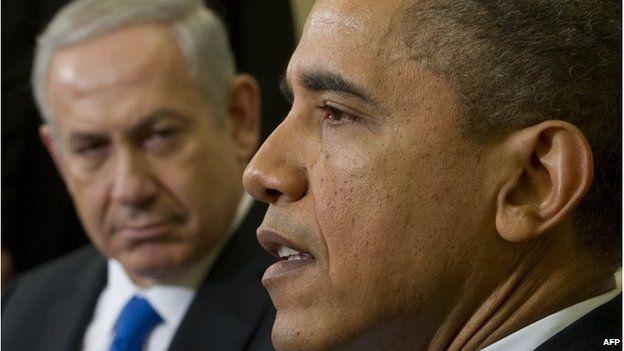 Benjamin Netanyahu (left) and Barack Obama (05/03/12)