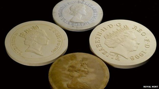 The four official portraits of the Queen that have appeared on coins in the UK during the Queen's reign.