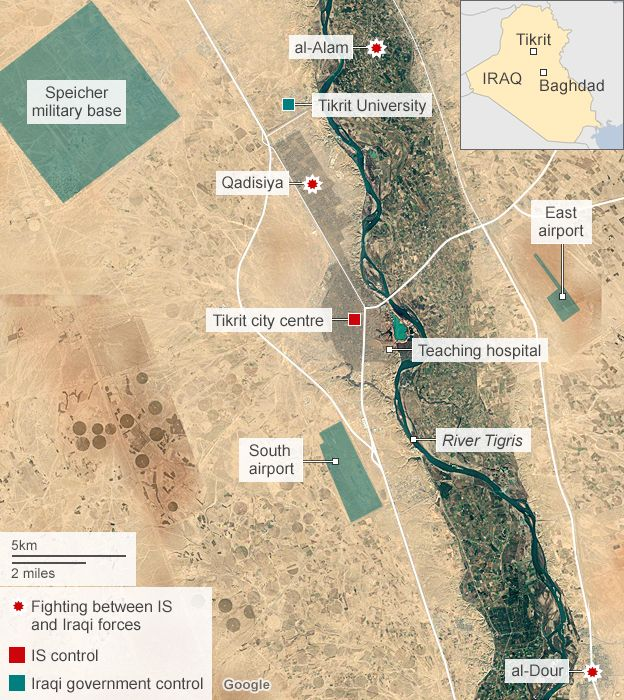 Iraq moves against Islamic State in Tikrit BBC News
