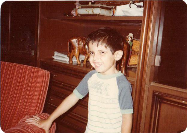 Aimen Dean as a child