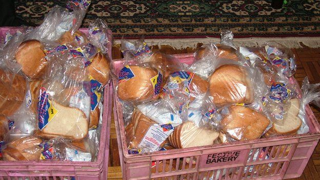 Bread and milk parcels