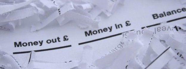 Shredded bank statements