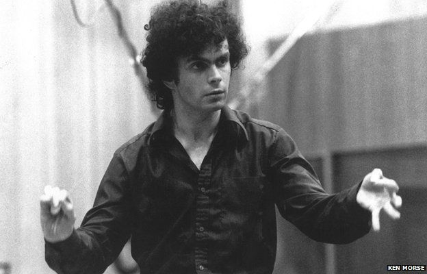 Simon Rattle at his first LSO recording session in 1977