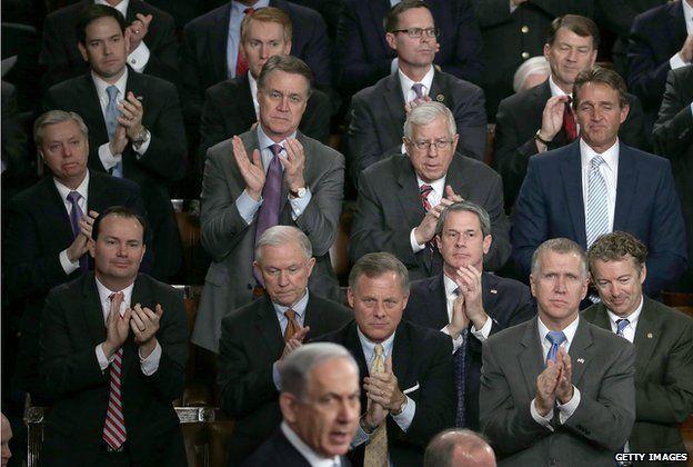 Standing ovations during Netanyahu speech to Congress