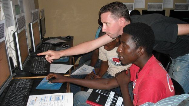 Jonny Wakely working in Mozambique