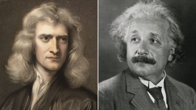 Image result for albert newton vs einstein
