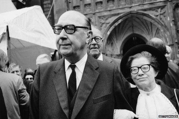 Philip Larkin and Monica Jones in 1984