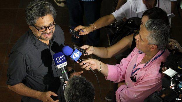Ivan Marquez, Farc commander, in Havana
