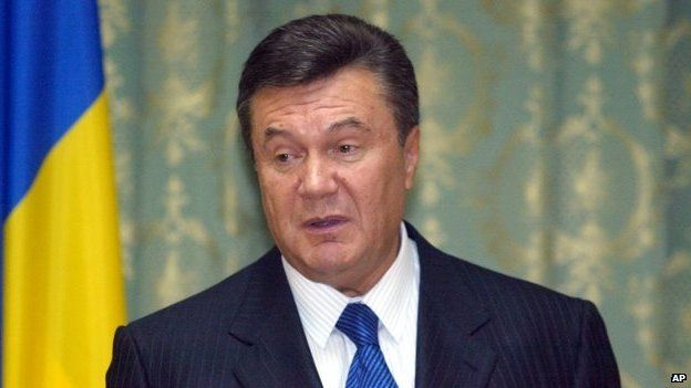 Ukrainian Prime Minister Viktor Yanukovych makes a speech to the heads of foreign missions in Kiev, Ukraine, on 4 April 2007
