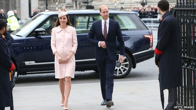Duke and Duchess of Cambridge arrive at Westminster Abbey