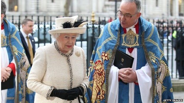 Queen at Westminster Abbey on Commonwealth day