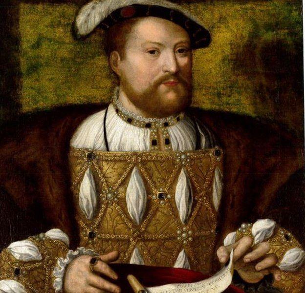 Portrait Henry VIII by a follower of Joos Van Cleve
