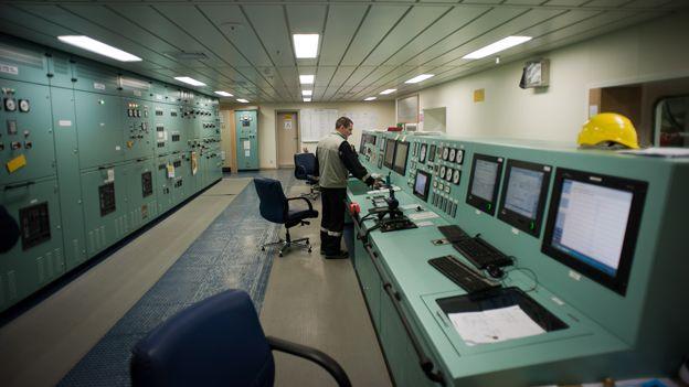 Bank of computers on board MSC Oscar
