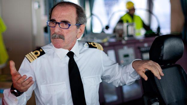 Captain Silviero of the MSC Oscar