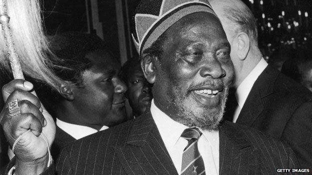 Jomo Kenyatta in London in 1965
