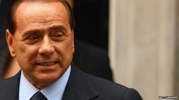 Former Italian prime minister Silvio Berlusconi, pictured in 2008