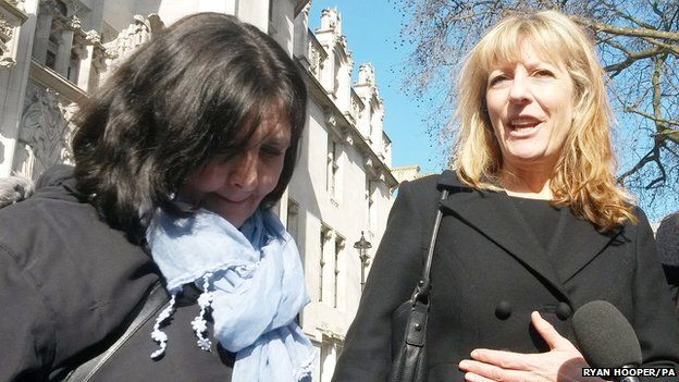 Ms Wyatt with her lawyer Barbara Reeves