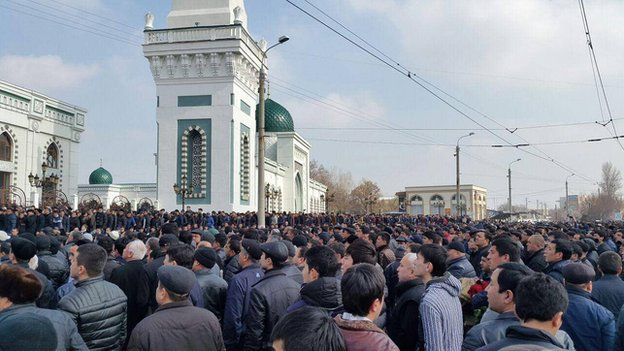 Large gatherings are rare in Uzbekistan where the authorities have cracked down on religious activity outside state institutions
