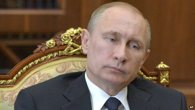 President Putin in a meeting (undated image)