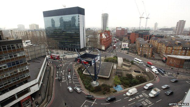Silicon roundabout, London