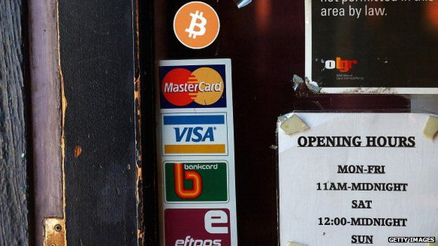 Bitcoin and other payment logos